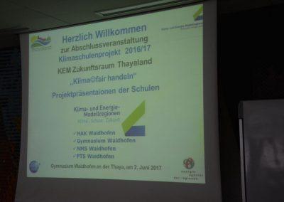 Abschluss Klimaschulen 2017 im Gymnasium Waidhofen