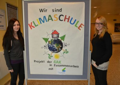 Klimaschulen Plakat der HAK 2015/16
