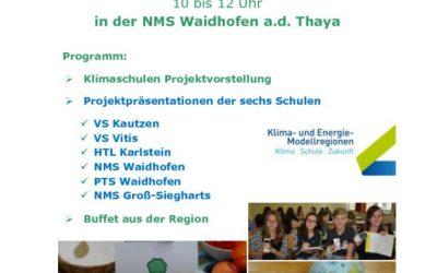 Einladung zur Projektpräsentation Klimaschulen Projekt KEM Thayaland